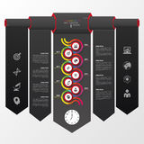 Abstract chronologie infographic malplaatje Vector illustratie Royalty-vrije Stock Afbeelding