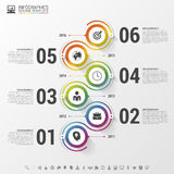 Abstract chronologie infographic malplaatje Vector illustratie Royalty-vrije Stock Foto's