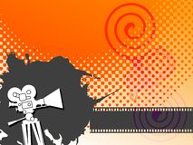Abstract cinema background. Color illustration Stock Image