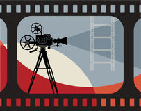 Abstract cinema background Stock Photography
