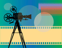 Abstract cinema background Royalty Free Stock Photo