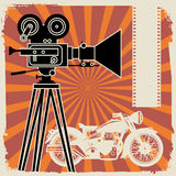 Abstract cinema background Royalty Free Stock Image