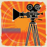 Abstract cinema background Royalty Free Stock Photos