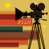 Abstract cinema background Royalty Free Stock Photography