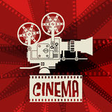 Abstract cinema background stock illustration
