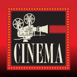 Abstract cinema background Stock Images