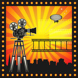 Abstract cinema background Stock Photos