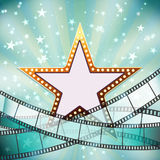Abstract cinema background Stock Image