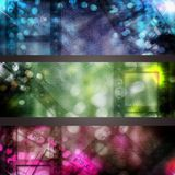 Abstract cinema banner set Stock Photo