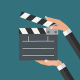 Abstract Cinema Clapper Flat Symbol Icon. Royalty Free Stock Photos