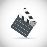 Abstract Cinema Clapper Flat Symbol Icon. Vector Illustration. EPS10 Stock Photography