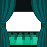 Abstract Cinema Flat Background. Vector Illustration Stock Image