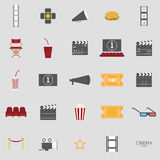 Abstract Cinema objects. Cinema objects on a white background Stock Photography