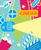 Abstract cinema poster. Royalty Free Stock Photography
