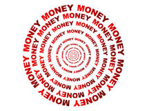 Abstract circel made of money text Stock Photo