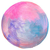 Abstract circle acrylic and painted background. Royalty Free Stock Image