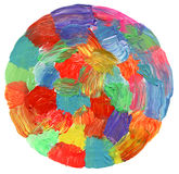 Abstract circle acrylic and watercolo painted background. Royalty Free Stock Photography