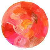 Abstract circle acrylic and watercolor background. Royalty Free Stock Photos