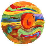 Abstract circle acrylic and watercolor background. Royalty Free Stock Photography