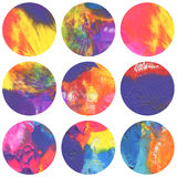 Abstract circle acrylic and watercolor painted background. Royalty Free Stock Images