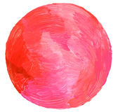 Abstract circle acrylic and watercolor painted background. Isolated stock photo