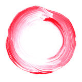 Abstract circle acrylic and watercolor painted background. White and pink grunge paint element isolated on white. Modern design element. Watercolor frame Royalty Free Stock Image