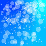 Abstract circle aqua blue background. Glitter star light, sparkle circles, dots on aqua blue background Stock Illustration