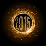 Abstract Circle. As vector fireworks motion. 2015 New Year Stock Photos