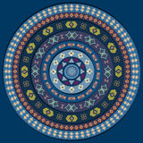 Abstract circle . Background in blue color shades. Abstract circle with decorative elements. Background in blue color shades Stock Photo