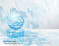 Abstract circle background 3. Geometric abstract background with blue colors elements and rectangles, and circle, and sphere Royalty Free Stock Photo
