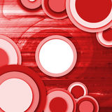 Abstract circle background red. Abstract vintage background with circle and swirl Stock Photos