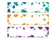 Abstract circle banner. Vector in 3 color Royalty Free Stock Images