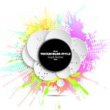 Abstract circle black banner with place for text Royalty Free Stock Image