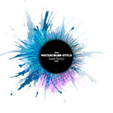 Abstract circle black banner with place for text Stock Photo