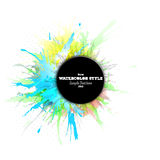 Abstract circle black banner with place for text Royalty Free Stock Images