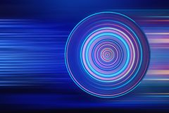 Abstract circle blue background. Abstract colorful volute, spiral, concentric lines, circular at blue lines speed background. 3d rendering Stock Photos
