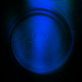 Abstract circle blue background Stock Image