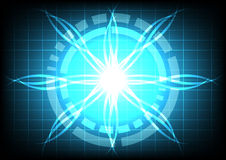 Abstract circle  blue light ray effect technology Stock Images