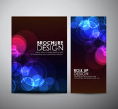 Abstract Circle bokeh. Brochure business design template or roll up. Stock Images