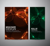 Abstract Circle bokeh. Brochure business design template or roll up. Stock Photography
