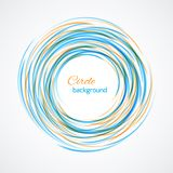 Abstract circle bright background Stock Photography