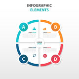 Abstract circle business Infographics elements, presentation Royalty Free Stock Photo