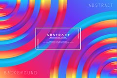 Abstract circle colorful background. With layered background shape stock illustration