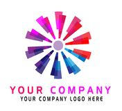 Abstract circle colorful logo design on white background. In ai10 additional vector illustration