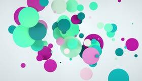 Abstract circle colors. 3d abstract circle colors purple light-green Stock Image