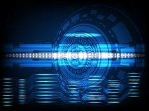 Abstract circle Concept innovation connect digital line engineering in world  digital technology future data computer network comm. Unication on dark blue color Royalty Free Stock Photos