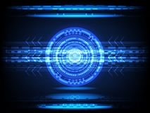 Abstract circle Concept innovation connect digital line engineering in world digital technology future data computer network comm. Unication on dark blue color Stock Photo