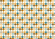 Abstract Circle and Curve Cup Pattern in Retro Style Royalty Free Stock Photos