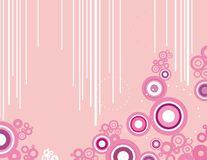 Abstract circle design. In rose and white colors,  series Stock Photo