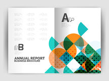 Abstract circle design business annual report print template Stock Photos